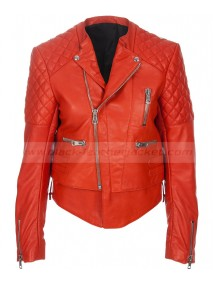 Kristen Stewart Quilted Leather Motorcycle Jacket