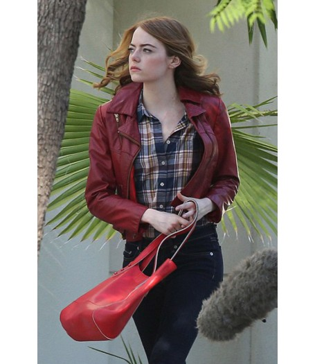 La La Land Emma Stone Leather Jacket