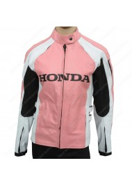 Ladies Pacifica Joe Rocket Honda Pink Leather Motorcycle Jacket