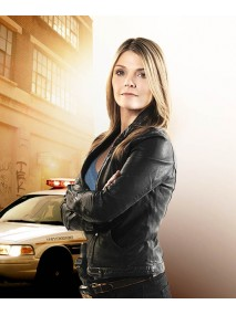 Kathryn Erbe Law and Order Leather Jacket