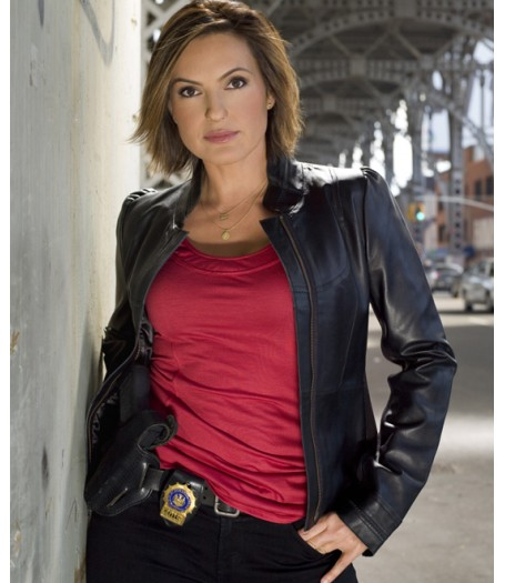 Law & Order Special Victims Unit Olivia Benson Black Leather Jacket