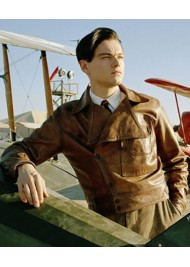 Leonardo DiCaprio Film The Aviator Brown Leather Jacket