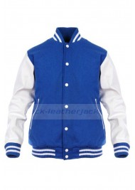 Letterman Retro Wool Blue and White Varsity Jacket