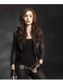 Mortal Instruments Lily Collins Leather Jacket