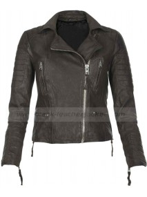 Los Angeles Sandra Bullock Womens Leather Biker Jacket