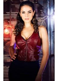 Anna Silk Lost Girl Leather Vest