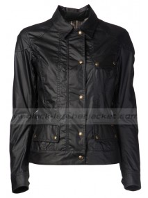 Lyla Michaels Arrow Black Waxed Jacket