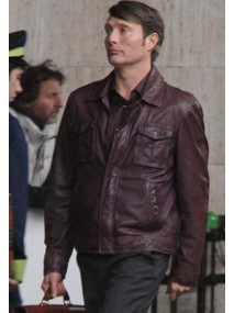 Mads Mikkelsen Hannibal Brown Leather Jacket