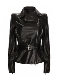 Mariah Carey Motorcycle Black Leather Jacket