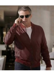 Matt Leblanc Episodes Reddish Brown Leather Jacket