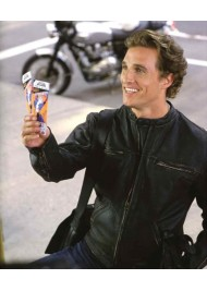 Matthew Mcconaughey Biker Black Leather Jacket