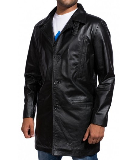 Max Payne Mark Wahlberg Black Leather Jacket