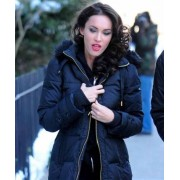 Megan Fox Black Puffer Coat