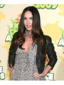 Megan Fox Short Black Leather Jacket