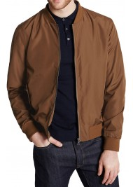 Men's Baseball Casual Wear Brown Bomber Jacket