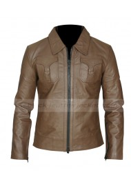Drifter Vintage Style Brown Leather Jacket For Men