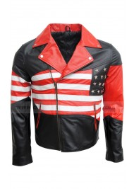 Men's American Flag Leather Jacket
