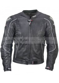 Mens Black Vulcan Armored Leather Motorcycle Jacket