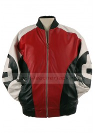Men's 8 Ball Genuine Leather Bomber Jacket