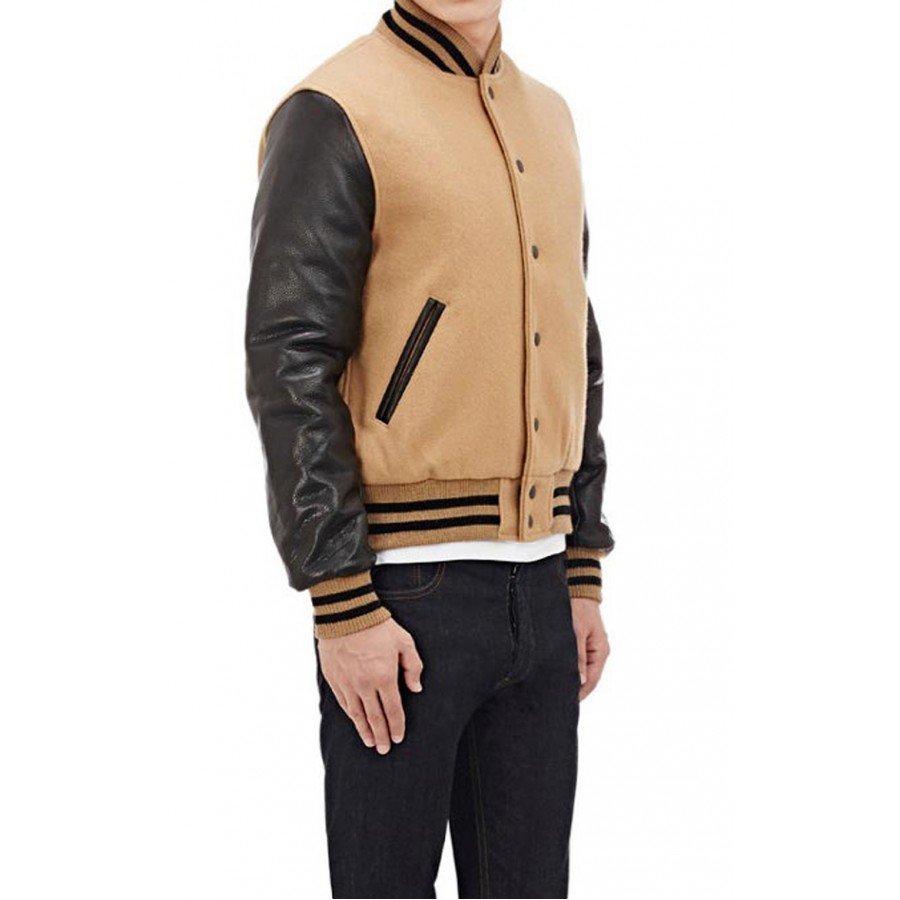 Brown and Black Varsity Jacket