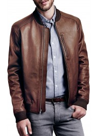 Men's Chocolate Brown Leather Jacket