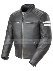 Mens Classic Joe Rocket Black Leather Motorcycle Jacket