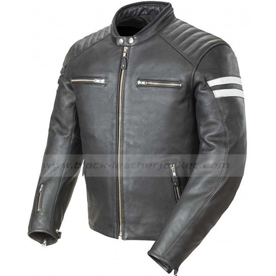 Leather jacket for motorcycle riding - Mens Joe Rocket Motorcycle Jacket Classic Black Leather Biker