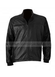 Men's Big And Tall Excelled Black Leather Moto Jacket