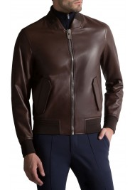 Men's Modern Casual Brown Leather Jacket