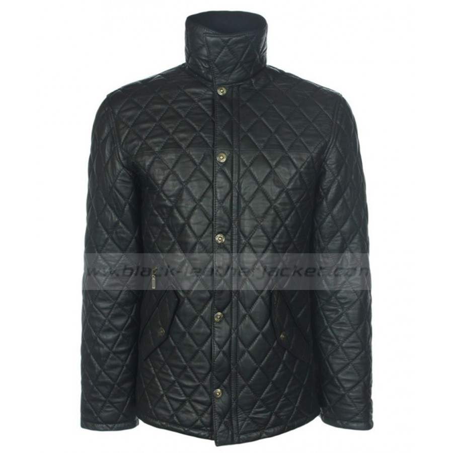 Mens Quilted Bomber Jacket | Mens Quilted Black Leather Jacket : quilted leather jacket mens - Adamdwight.com