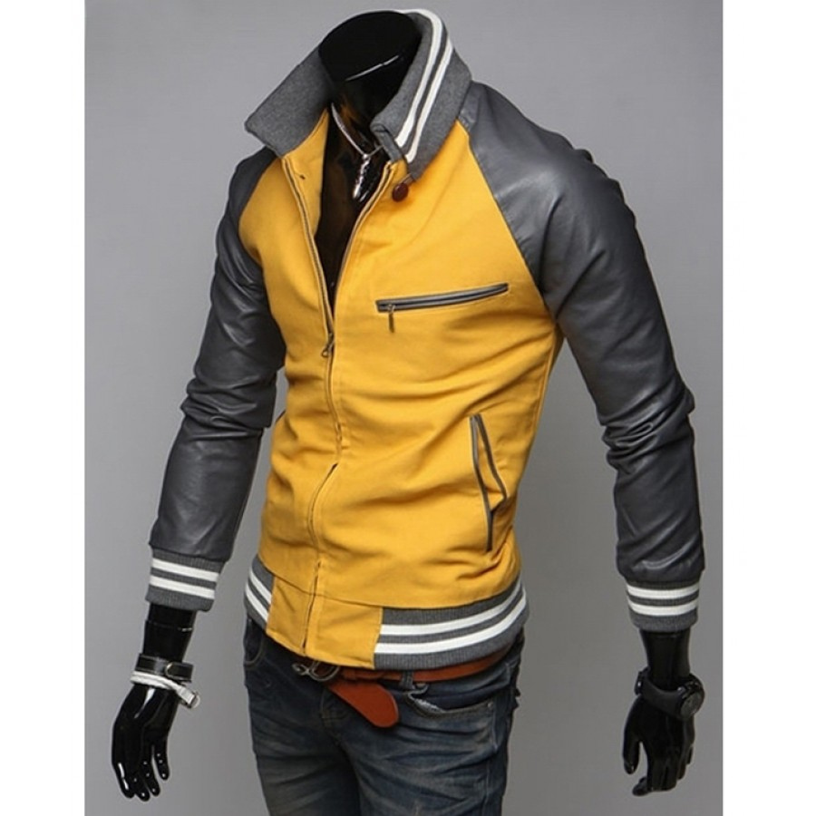Mens Mustard Yellow Jacket | Slim Fit Casual Sport Jacket