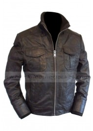 Slim Fit Modern Leather Bomber Jacket