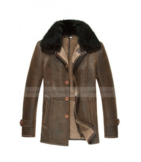 Men's Vintage Shearling Sheepskin Coat