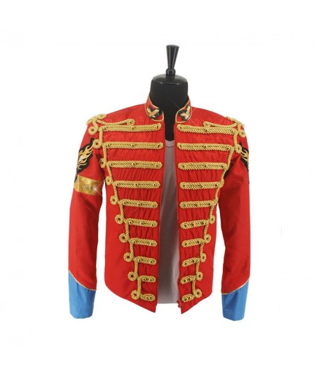 Michael Jackson Red British Army Jacket
