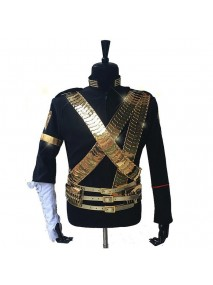 Michael Jackson Jam Golden Belt Jacket