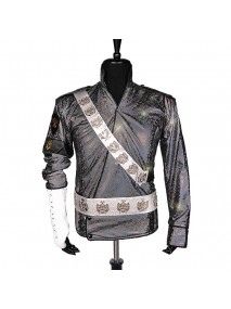 Michael Jackson Bad Era Jam Satin Jacket