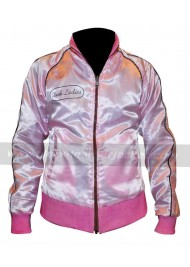 Michelle Pfeiffer Reversible Satin Grease Pink Ladies Jacket