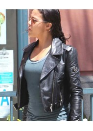 Michelle Rodriguez Black Leather Jacket