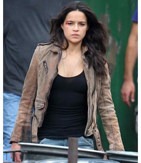 Michelle Rodriguez Fast And Furious 7 Leather Jacket