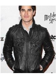 Mistaken For Strangers Darren Criss Black Leather Jacket