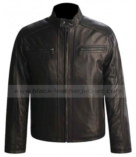 Moto Style Andrew Marc New York Leather Jacket Men