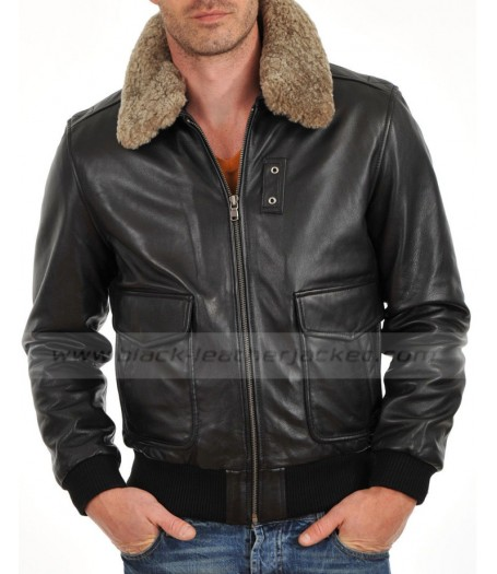 Men Designer Motorbike Bomber Leather Jacket