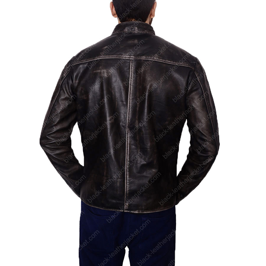 Leather jacket for motorcycle riding -  Tom Cruise Motorcycle Riding Leather Jacket