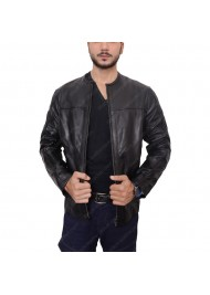Roland Sands Barfly Black Leather Motorcycle Jacket