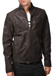 Beautiful New Style Men's Designer Lamb Leather Jacket