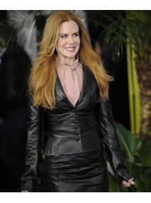 Nicole Kidman Black Leather Jacket for Womens