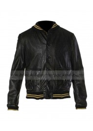 Ashton Kutcher Nikki Spread Leather Jacket