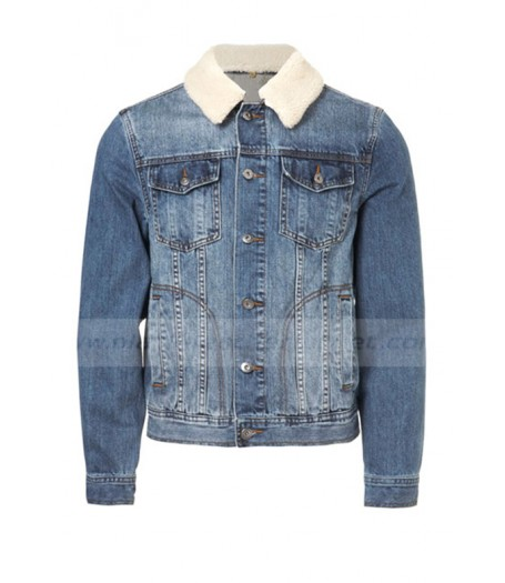 One Direction Louis Tomlinson Denim Jacket with Fur Collar
