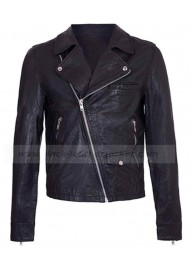 One Direction Zayn Malik Biker Black Leather Jacket