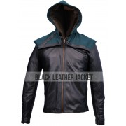 Green Arrow Stephen Amell Leather Jacket Hoodie